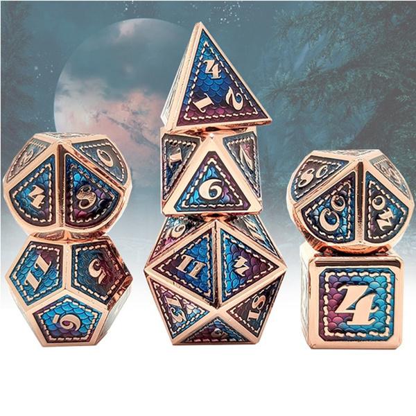 Dice, Board Game, diceset, Metal