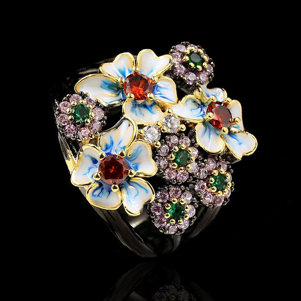 Sterling, Flowers, Jewelry, gold