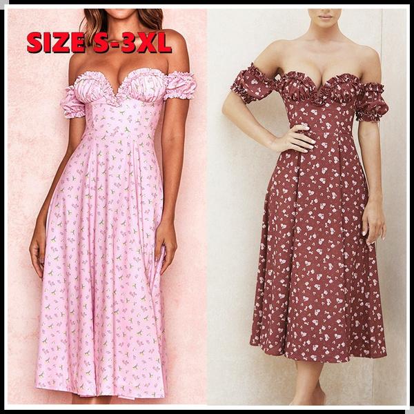 slim dress, Floral print, Necks, long dress
