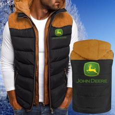 Vest, menzipperjacket, Cotton, Winter