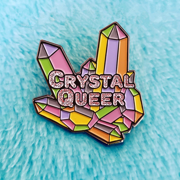 rainbow, brooches, quartzcrystal, Jewelry