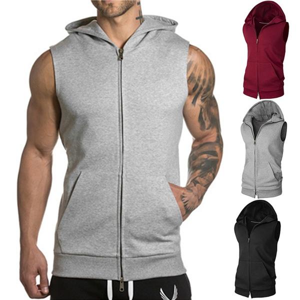 Summer, Vest, hooded, Fitness