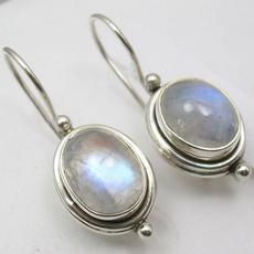 Beautiful, rainbow, Hoop Earring, 925 sterling silver