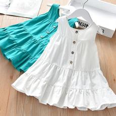 Sleeveless dress, girls dress, ruffle, weddingbridesmaiddre