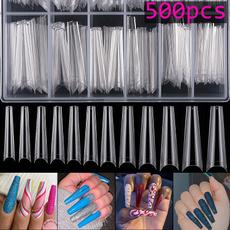 Box, ballerinanail, acrylic nails, nail tips