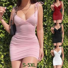 sleeveless, Slim Fit, Mini, Dress