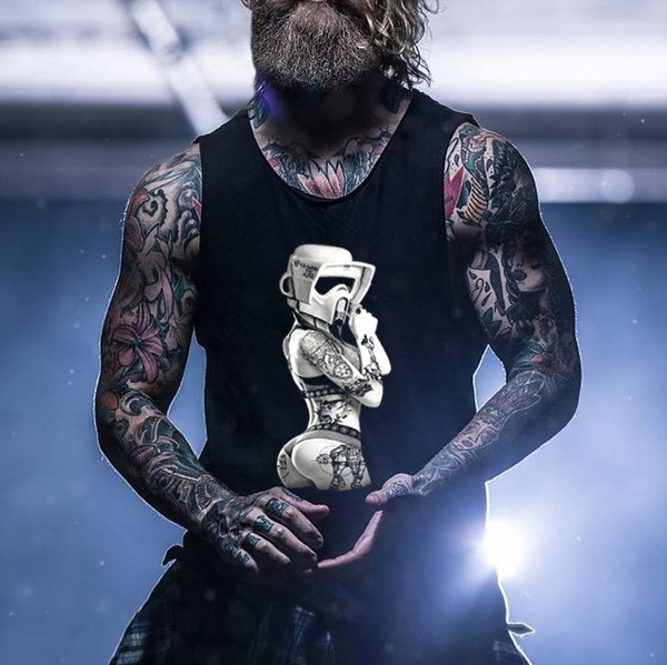 tattoo, Vest, Fashion, Shirt