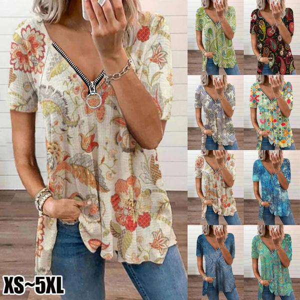 blouse, Shirts & Tops, Plus Size, Floral print