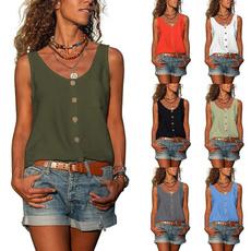 blouse, Vest, Plus Size, Tops