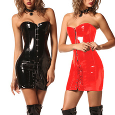 latex, leathercorset, slim, longcorsetdresse