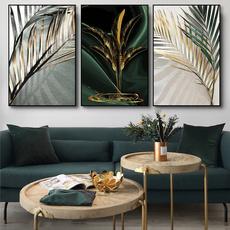 golden, Plants, Wall Art, canvaspainting