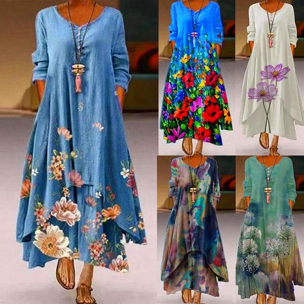 Summer, dressesforwomen, Floral print, plus size dress
