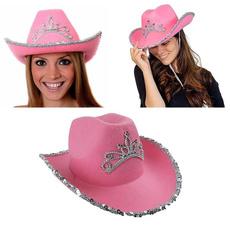 pink, crowncowboyhat, Cap, women hats