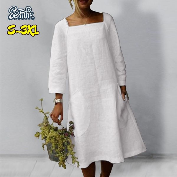 Summer, Plus Size, Dress, white dress