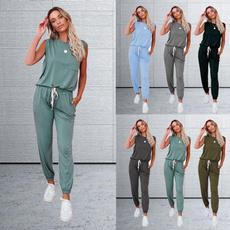 sleeveless, tracksuit for women, sport pants, jogging suit