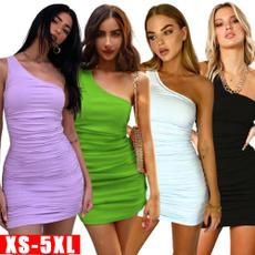 Mini, Club Dress, Tank, one shoulder dress