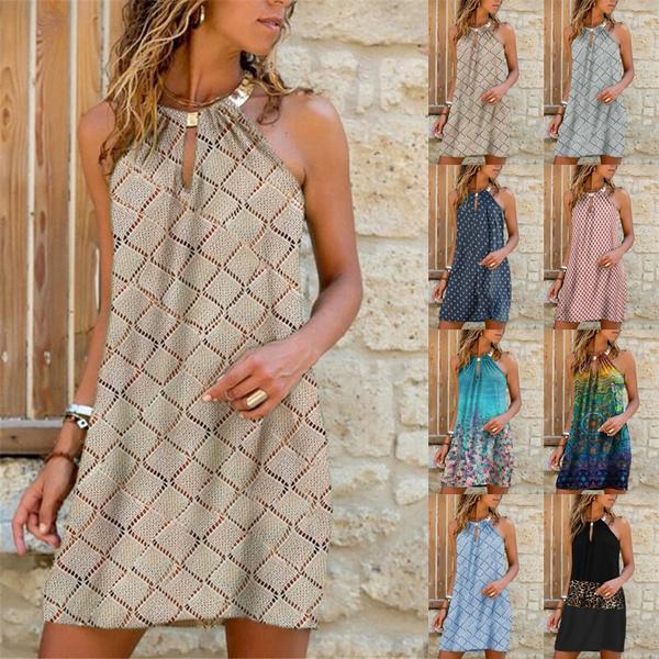 Mini, Fashion, halter dress, newwomensfashion