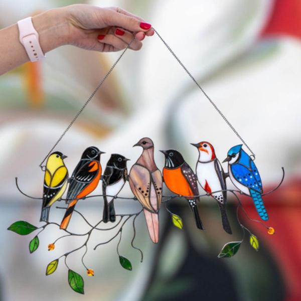 Home & Kitchen, birdspeciespendant, stained, birdsuncatcher