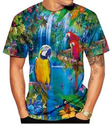 Summer, Funny T Shirt, 3dmentshirt, Parrot