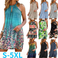 women sexy dress, Summer, Fashion, halter dress