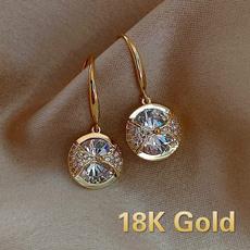 DIAMOND, gold, hookearring, Earring