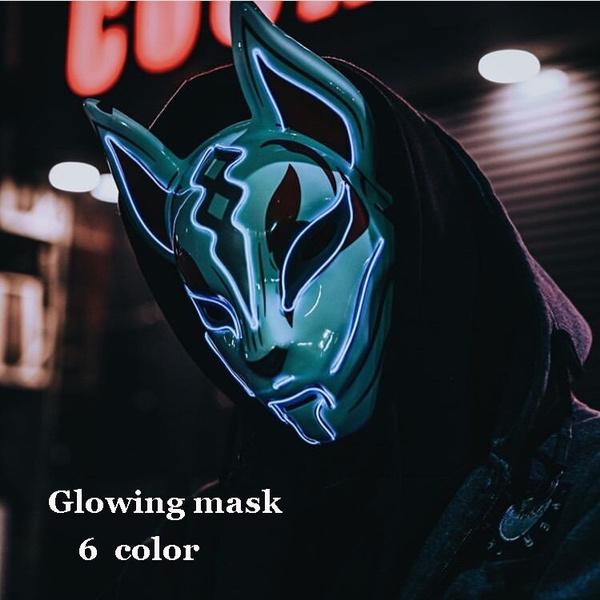 Cosplay, glowmask, Fox, Horror