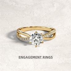 Fashion, wedding ring, gold, Diamond Ring