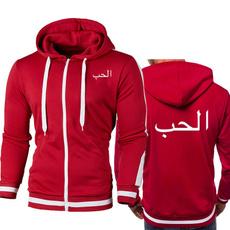casual coat, arabicwriting, Fleece, cardigan
