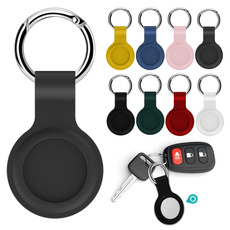case, protectivesleeve, Key Chain, airtagsliquidsiliconeprotective