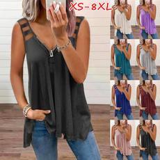 blouse, Vest, Plus size top, Summer