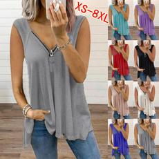 Clothes, blouse, Vest, Plus size top