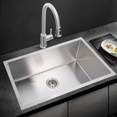 Steel, Kitchen & Dining, kitchenbasin, singlesink