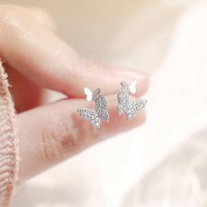 butterfly, Sterling, Fashion, butterfly earrings