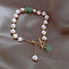 Fashion, Jewelry, Gifts, naturalstonepearlbracelet