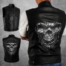 Vest, Fashion, skullmotorcyclevest, skull