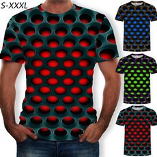 Shorts, Sleeve, geometricpattern, personalitytshirt