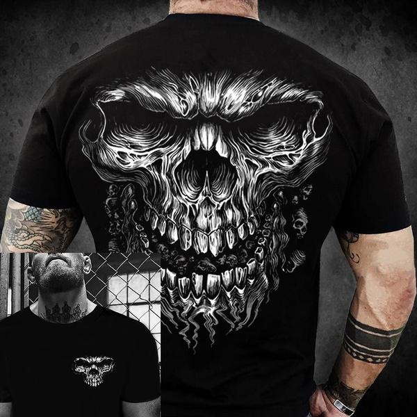 Fashion, skullmotorcyclevest, motorcycleshirt, summer t-shirts
