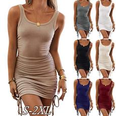 Sleeveless dress, dressesforwomen, short skirt, Shorts