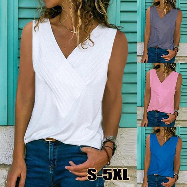 summertopsforwomen, Summer, Vest, Plus Size