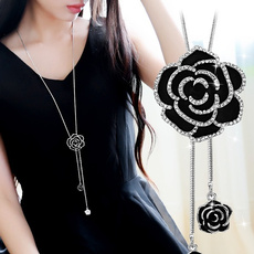 Flowers, Jewelry, Chain, flower necklace