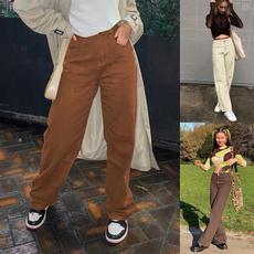 brown, cottondenimsweatpant, Cotton, Waist