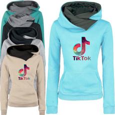 Fashion, lapelhoodedsweatshirt, Sleeve, letter print