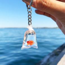 waterbagkeychain, Fashion Accessory, Key Chain, goldfishkeychain