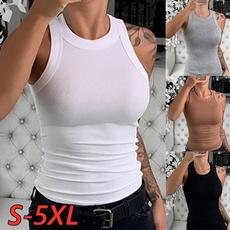 sleevelesstopwomen, Summer, Vest, Plus Size