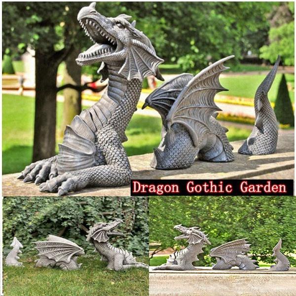 Home & Kitchen, Decor, dragonstatue, Home & Living