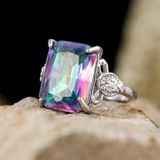 Sterling, rainbow, DIAMOND, Jewelry