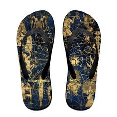 Flip Flops, Sandals, Solar, zodiacsymbolsandsolarsignssandalsunisex