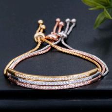 Sterling, Fashion, Chain bracelet, gold