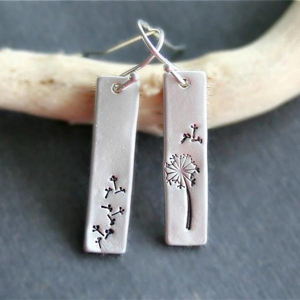 Sterling, Flowers, Dangle Earring, Gemstone Earrings