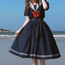Kawaii, bowknot, Shorts, sleeve dress